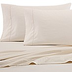 Wamsutta® 525-Thread-Count PimaCott® Wrinkle Resistant Stripe Queen Fitted Sheet in Ivory