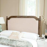Safavieh Rustic Wood Upholstered Full Headboard in Beige