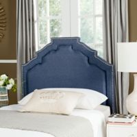 Safavieh Alexia Linen Twin Headboard in Navy