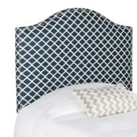 Safavieh Connie Twin Headboard in Navy/White Lattice