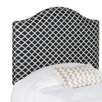 Safavieh Connie Twin Headboard in Black/White Lattice