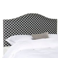 Safavieh Connie Full Headboard in Black/White Lattice