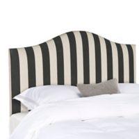 Safavieh Connie King Headboard in Black/White Lattice
