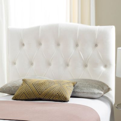 safavieh twin axel tufted headboard in white - White Tufted Bed Frame