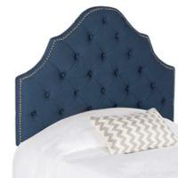 Safavieh Arebelle Tufted Linen Twin Headboard in Steel Blue
