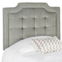 Safavieh Saphire Tufted Twin Headboard in Pewter