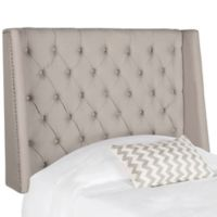 Safavieh London Winged Tufted Linen Twin Headboard in Taupe