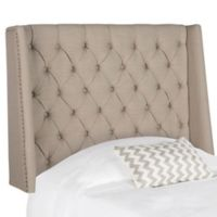 Safavieh London Tufted Linen Twin Headboard in Taupe