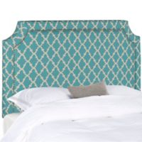 Safavieh Shayne Full Headboard in Blue/White