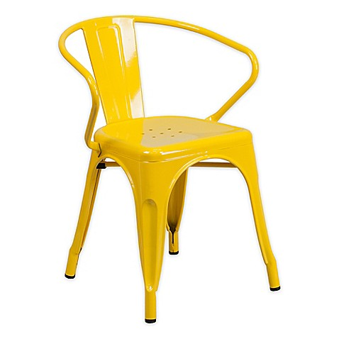 image of Flash Furniture Metal Chair with Arms