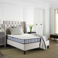 Safavieh Tranquility 8-Inch Spring King Mattress in White/Navy