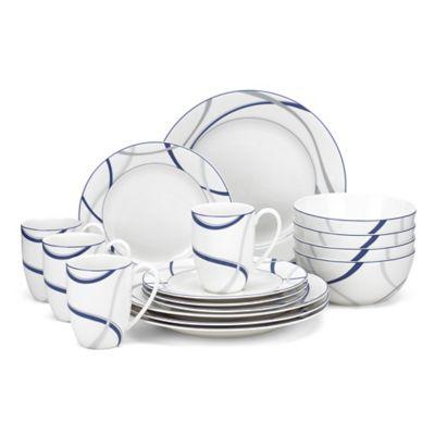 Lenox® Vibe™ 16-Piece Dinnerware Set in Blue  sc 1 st  Bed Bath u0026 Beyond & Buy Lenox Casual Dinnerware from Bed Bath u0026 Beyond
