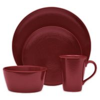 Noritake® Red on Red Swirl Coupe 4-Piece Place Setting