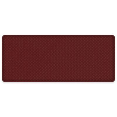 GelPro Classic Basketweave 20 Inch X 48 Inch Kitchen Mat In Cranberry