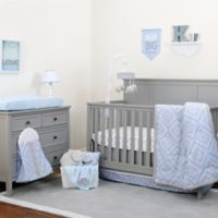 NoJo® Dreamer Diamond 8-Piece Crib Bedding Set in Blue/Grey