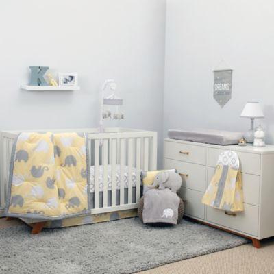 Crib Bedding Sets Nojo Dreamer Elephant 8 Piece Set In Yellow