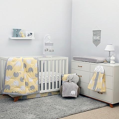 Nojo 174 Dreamer Elephant 8 Piece Crib Bedding Set In Yellow