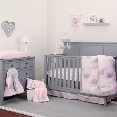 Crib Bedding Sets Nojo Dreamer Elephant 8 Piece Set In Pink