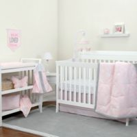 NoJo® Dreamer Floral 8-Piece Crib Bedding Set in Pink/Grey