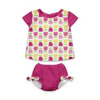 i play.® Size 6M 2-Piece Cap Sleeve Rashguard Shirt Set with Built-in Swim Diaper