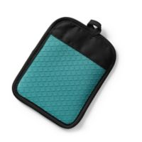 Silicone Quilted Pot Holder in Caribbean Blue