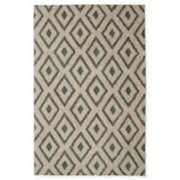 Mohawk Home Laguna Tribal Diamond 5-Foot x 8-Foot Area Rug in Green