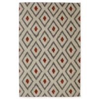 Mohawk Home Laguna Tribal Diamond 8-Foot x 10-Foot Area Rug in Coral