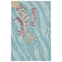 Liora Manne 5-Foot 5-Inch x 3-Foot x 5-Inch Mermaid Crossing Rug in Water