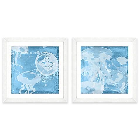 jellyfish framed wall art bed bath beyond. Black Bedroom Furniture Sets. Home Design Ideas