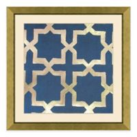 Metallic Pattern Framed Wall Art