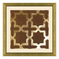 Metallic Pattern II Framed Wall Art