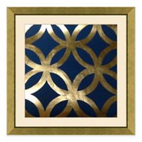 Metallic Pattern IV Framed Wall Art