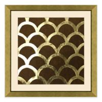 Metallic Pattern V Framed Wall Art