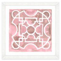 Pink Watercolor Garden Plan Framed Wall Art