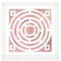 Pink Watercolor Garden Plan III Framed Wall Art