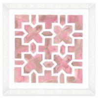 Pink Watercolor Garden Plan IV Framed Wall Art