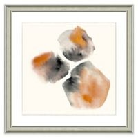 Abstract Watercolor Wall Art in Orange
