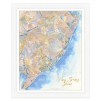 Jersey Shore Map Watercolor Wall Art