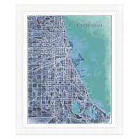 Chicago Map Watercolor Wall Art