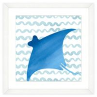 Stingray Framed Watercolor Print Wall Art