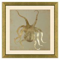 Metallic Octopus Framed Print Wall Art