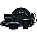 Noritake® Black on Black Swirl Coupe 16-Piece Dinnerware Set