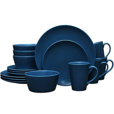 Noritake® Navy on Navy Swirl 16-Piece Coupe Dinnerware Set  sc 1 st  Bed Bath u0026 Beyond & Buy Navy Dinnerware Set from Bed Bath u0026 Beyond