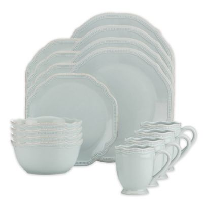 Lenox® French Perle Bead 16-Piece Dinnerware Set in Ice Blue  sc 1 st  Bed Bath u0026 Beyond & Buy Lenox Everyday Dinnerware from Bed Bath u0026 Beyond