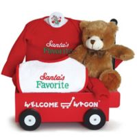 "Silly Phillie Creations Size 6-9M 5-Piece ""Santa's Favorite"" Welcome Wagon Gift Set"