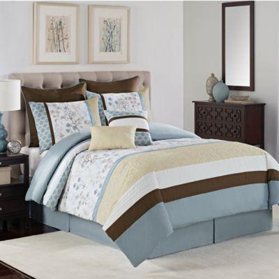 Serenity 8-Piece King Comforter Set in Blue