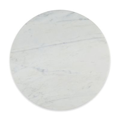 artisanal kitchen supply straight edge marble lazy susan