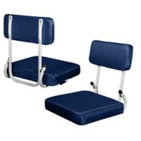Plain Hard Back Stadium Seat in Navy