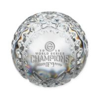 "MLB Chicago Cubs ""2016 World Series Champions"" Limited Edition Crystal Paperweight"