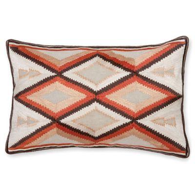 aura arrow 14inch x 20inch oblong throw pillow in orange